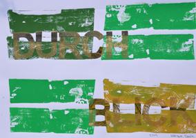 Durchblick (2014), Monotypie, 50 x 70 cm
